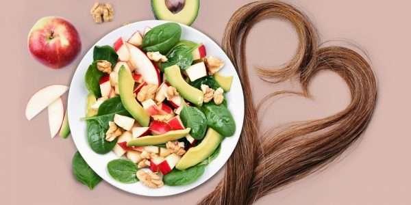 تصویر در نقش غذاها در نگهداری مو
