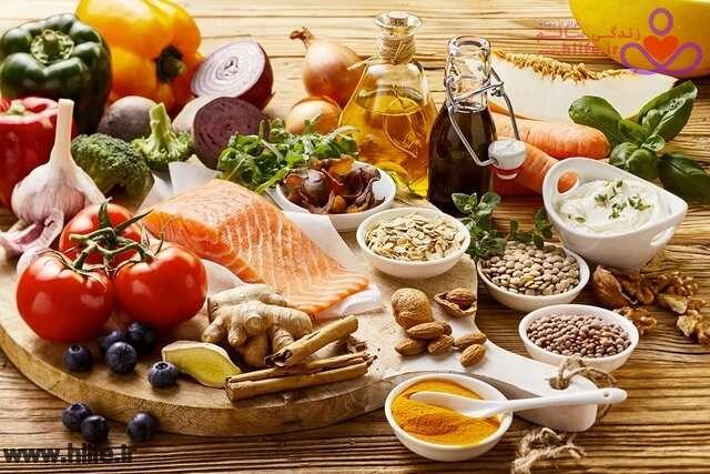 تصویر در مواد غذایی برای کنترل فشار خون